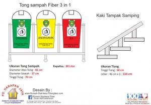 jual tempat dan tong sampah organik , Harga tong dan tempat sampah organik dan anorganik murah Desain Tong sampah organik