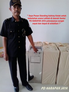 Jual Standing Ashtray kotak