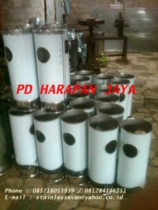jual standing ashtray stainless