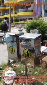 jual tempat sampah stainless baru dan murah