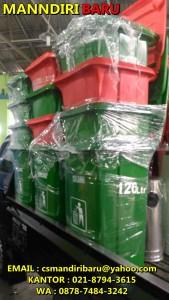 Harga tong sampah fiber beroda 120 liter murah