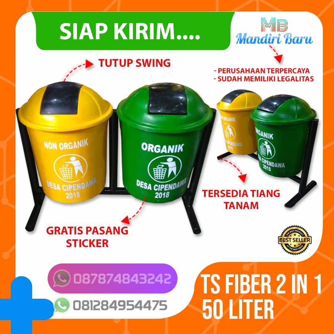 jual tempat sampah fiber 2 warna pilah organik anorganik, tong sampah fiber murah, jual tempat sampah fiber, harga tong fiber jakarta