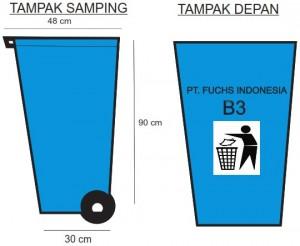 jual tempat sampah beroda , tong sampah roda 2 kapasitas 120 dan 240 Liter , harga bak sampah beroda murah