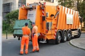 Container sampah , truk sampah murah