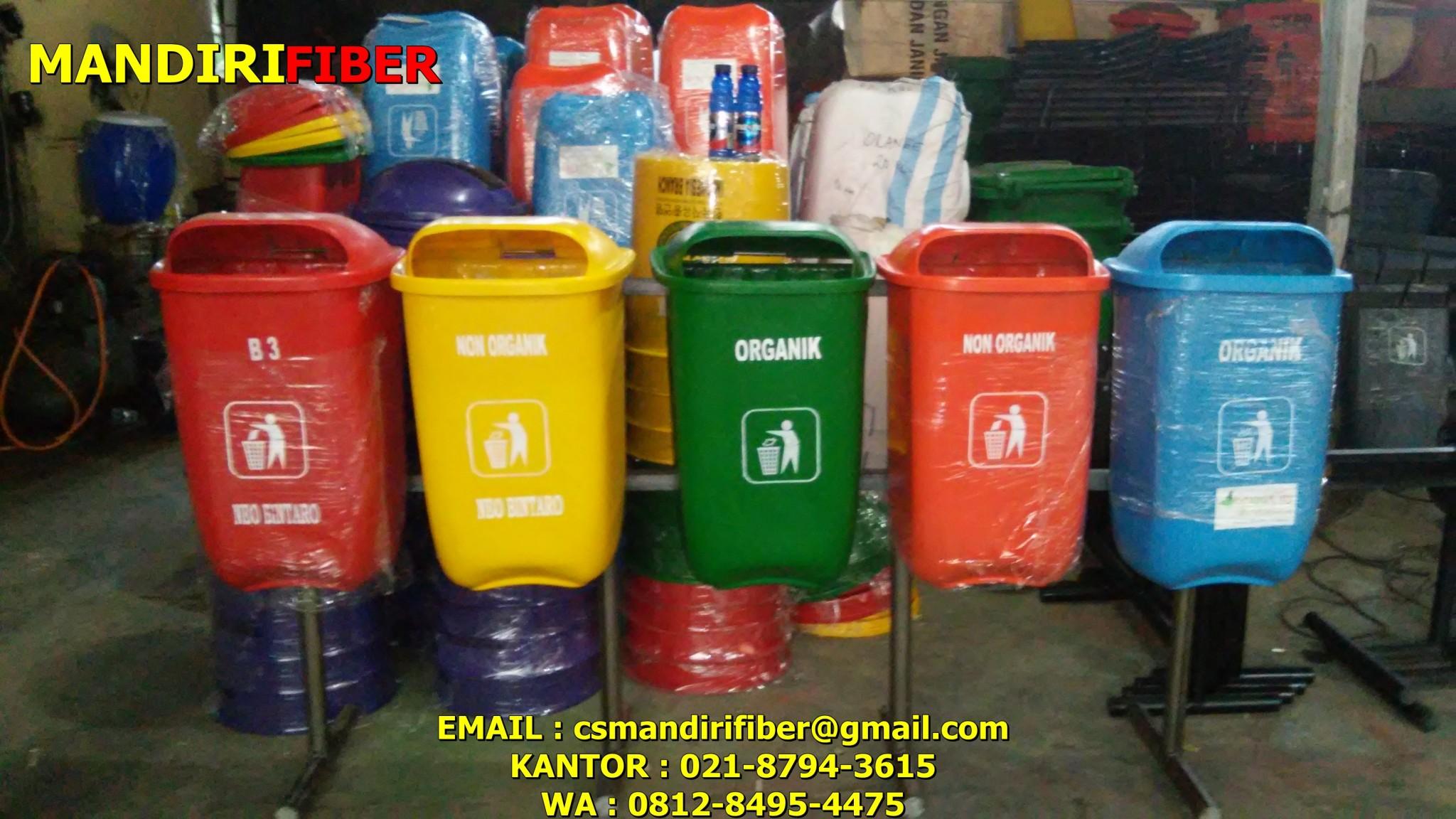 tong sampah fiber oval, jual tempat sampah fiber 2 in 1 , jual tempat samah di semarang , jual tong sampah organi dan anorganik murah