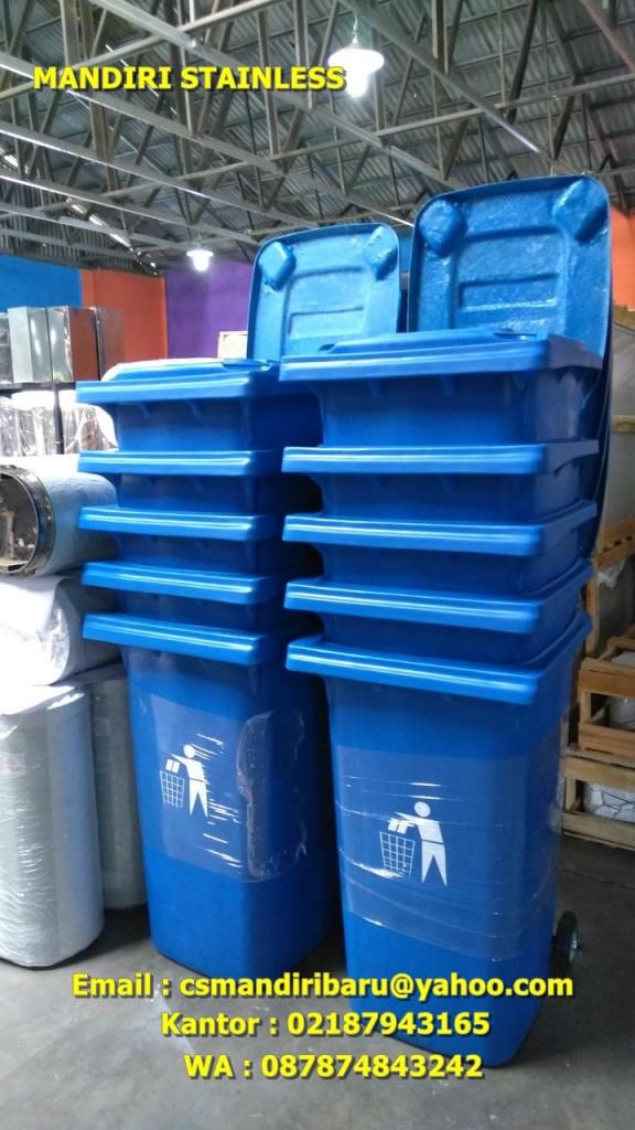 tong sampah fiber beroda 120 liter, harga tempat sampah fiber 240 liter, tong sampah fiber 120 liter