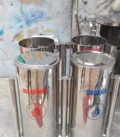 standing-ashtray-bulat-swing-2-in-1,jual tempat sampah bulat stainless asbak rokok harga murah di bandung jakarta jogja semarang dan surabaya
