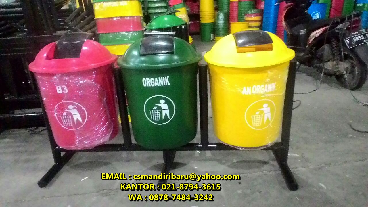 jual tong sampah fiber dan stainless harga murah di bogor dan jakarta