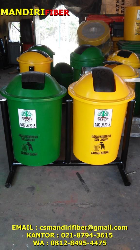 diamter tong sampah fiber bulat organik dan anorganik , warna dan ukuran tong sampah fiberglass murah , harga tong dan tempat sampah fiber