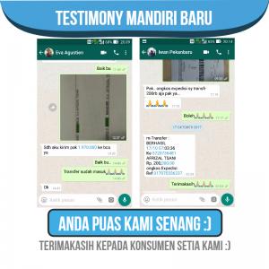 testimony penjualan cv mandiri baru