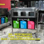 Tempat sampah stainless steel custom 3 in 1