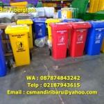Tong sampah fiberglass Roda 120 liter