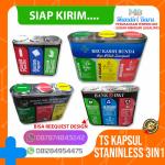 TONG SAMPAH STAINLESS STEEL 3 IN 1, 3 pilah, 3 jenis, 3 Warna