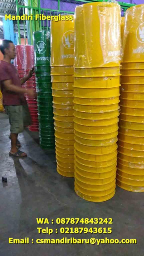 jual tong sampah fiberglass, harga tong sampah fiber,