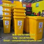 Tong sampah fiberglass kapasitas 240 Liter