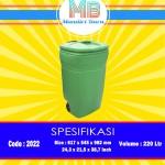 Tong sampah plastik 220 Liter