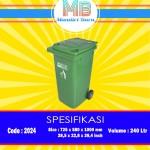Tong sampah plastik 240 Liter