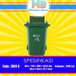 Tong Sampah Plastik 240 Liter ( G )