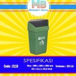 Tong sampah plastik 28 Liter