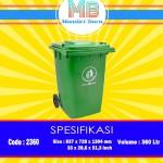 Tong sampah Plastik 360 Liter Beroda
