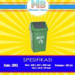 Tong sampah plastik 40 Liter