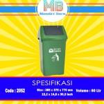Tong sampah plastik 60 Liter