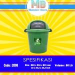 Tong sampah plastik 80 Liter
