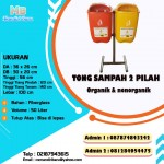 TONG SAMPAH FIBER OVAL 50 LITER 2 IN 1