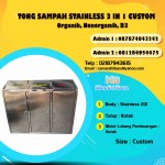 TONG SAMPAH STAINLESS 3 IN 1 CUSTOM KOTAK
