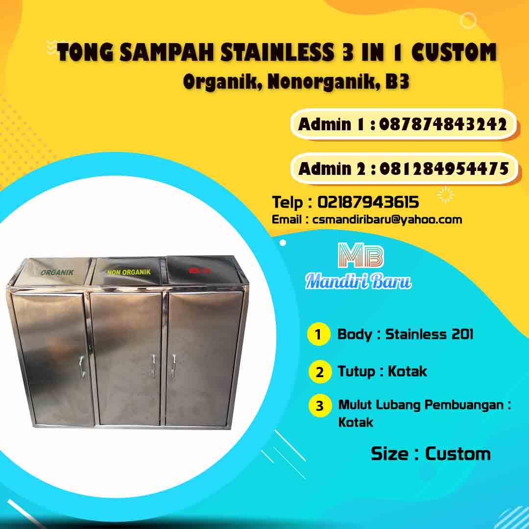 harga tempat sampah stainless, jual tong sampah stainless di Bandung, tong sampah stainless di Jakarta, harga tong sampah stainless di Surabaya,