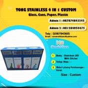 jual tong sampah stainless, harga jual tong sampah stainless steel, tempat sampah stainless custom, tong sampah stainless murah, harga tong sampah stainless di Bandung,