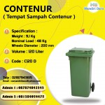 TONG SAMPAH PLASTIK CONTENUR 120 LITER