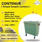 TONG SAMPAH PLASTIK CONTENUR 660 LITER