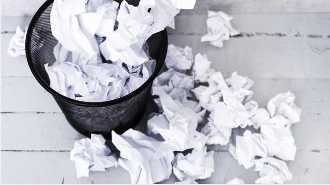 sampah kertas