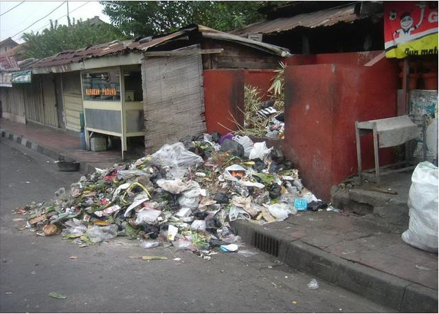 sampah di lingkungan